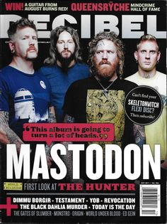 Decibel music magazine Mastodon Testament Revocation The Black Dahlia Murder YOB