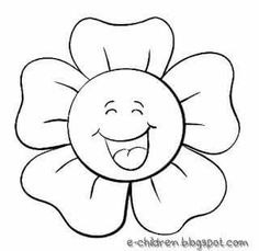 Flower Coloring Pages, Colouring Pages, Coloring Books, Easy Drawings For Kids, Drawing For Kids, Applique Patterns, Quilt Patterns, Coloring Sheets For Kids, Felt Books
