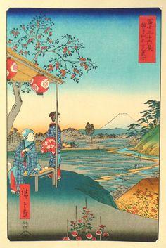 Japanese Ukiyoe Woodblock print antique Hiroshige by UkiyoeSalon