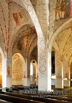 Lohja Church of St. Built between 1470 and The paintings are from