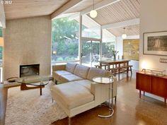 Swanky Robert Rummer House. Living room. @ 13160 SW GLENN Ct  Beaverton, OR 97008