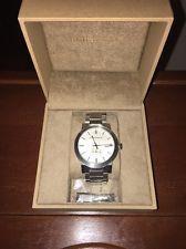 (MA2) Burberry Men's Silvertone Bracelet Watch, Swiss Made, 42mm Case, BU9900