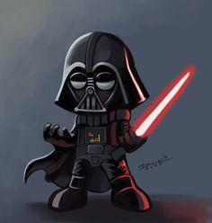 Darth Vader Nendoroid   By: Aldo Dark aka aLDoDarK via deviantART   #starwars #starwarsfanart #darthvader