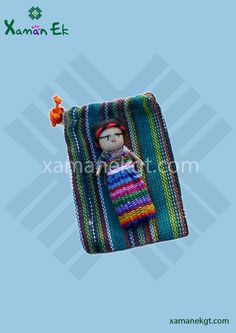 New Worry Doll Boy 8cm in handwoven pouch