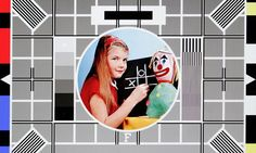 The BBC test card F. Introduced in 1967 and used up to 1998. The girl's name was Carole and she was the 8 year old daughter of George Hersee, a BBC engineer and designer of the card.