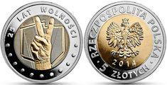 5 zl, 25 year Poland  Freedom Coin
