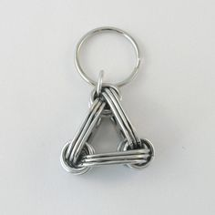 upcycled pop top keychain  triangle by tabsolute on Etsy, $7.00
