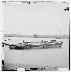 (1860s) Schooners Sunk to Obstruct Passage - James River, VA