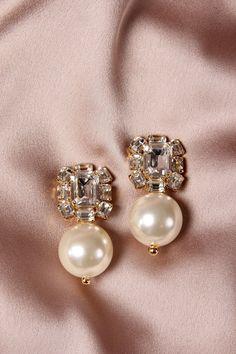 Disco de oro plata pendientes de perlas declaración idea regalo de Navidad Fiesta Zara