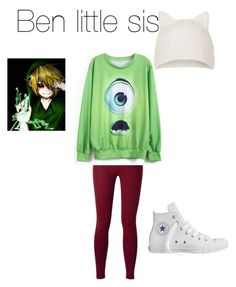 """""""Bens little sis #1"""" by insane-smilee ❤ liked on Polyvore featuring Topshop and Converse"""