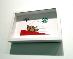 Falling Down Weed Bear California Bear Flag Art Work from Flickr | Bear Flag Museum