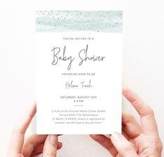Boy Bohemian Shower Invitation Modern Boy Baby Shower Invites | Etsy