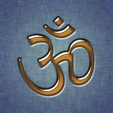 Induismo   Il simbolo dell'Oṃ, il più sacro mantra induista. Questo simbolo ॐ deriva dall'unione di due caratteri del devanāgarī: ओ ('o') + ँ ('m' nasale) riportati in corsivo. Risultando il devanāgarī una scrittura non precedente all'VIII secolo d.C. questo simbolo è di gran lunga posteriore alla sillaba Oṃ presente in testi anteriori almeno al VI secolo a.C.