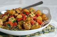 Картошка запеченная в рукаве с куриным мясом: рецепт с пошаговым фото