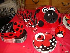 gold country girls: A Ladybug Birthday Party