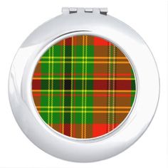 Leask Scottish Tartan Compact Mirror