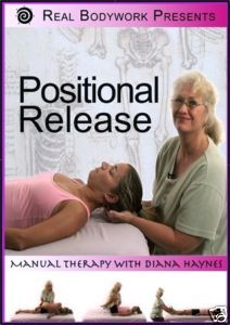 Click to get Positional Release DVD.  This comprehensive DVD shows how to release the most common dysfunctions with ease and skill. DVD's on special till July 31, 2012 Enter Coupon code JulyDVD when you check out to get 25% off when you buy any 2 titles... Just $67.74