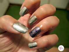 I tried to keep the stamping here almost transparent and create a effect. For this reason I used regular and not stamping polish, i. 31 Day Challenge, Metallic Nails, Stamping, Polish, Vitreous Enamel, Stamping Up, Stamps, Manicure, Nail Polish