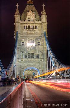 Traffic on London's Tower Bridge