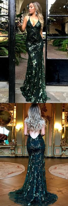 Mermaid backless evening party dresses, fashion formal prom gowns with sequins, formal gowns for special occasion.