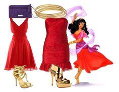 """Esmeralda - Homecoming"" by dutchveertje ❤ liked on Polyvore featuring Vera Bradley, Disney, Astley Clarke, Halston Heritage, Shoe Republic LA and Pour La Victoire"