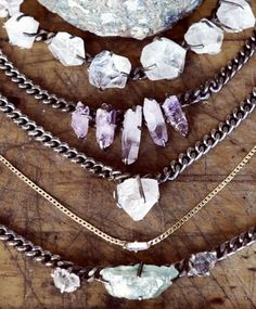.. Amethyst Shard Necklace ..