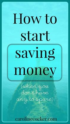 Do you want to start saving money but have no idea where to start? Clcikc through to get some great tips, or repin for later
