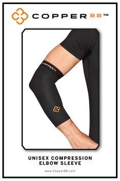 Available from XS- XXL, this Compression Elbow Sleeve is the only in the world to have 88% copper embedded in it's fiber composition.The compression supports your muscles and joints aiding in faster recovery time.Comfortably worn during exercise, rest and in the shower.Super-fast wicking keeps garments dry Antibacterial and anti-odour properties will keep you feeling and smelling fresh. Copper88™ fabric attributes are inherent in all our garments and will last for as long as you own our…