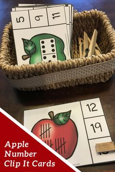 My preschool and kindergarten students love working with these apple themed number clip it cards.  I has been such a great addition to my math center!
