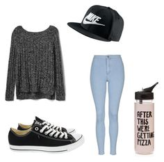 """School Outfit!!"" by sam-sam-04 on Polyvore featuring Gap, Topshop, Converse, NIKE and ban.do"