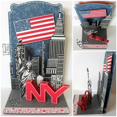cecile ortiz (new york, usa) Printing And Binding, Pop Up Art, Paper Pop, Pop Up Box Cards, Interactive Cards, New York, Zen Doodle, Stamping Up, Scrapbook Cards