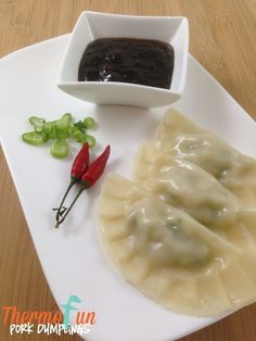 This recipe was originally published on my blog in September 2014.  I have since tweaked it to make the method clearer.  🙂  Enjoy!   Steamed dumplings in the Varoma are just awesome!  Particularly dipped in my homemade sweet chilli sauce made in your Thermomix! I recommend a plastic dumpling press, it was so worth the...