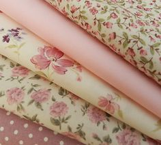 5 piece fat quarter bundle, cotton poplin fabric - pretty pink florals, dusky pink polka dot, Ideal fabric bundle for sewing patchwork quilting. Always Knitting & Sewing, Online Fabric Shop. Tissu Style Shabby Chic, Tela Shabby Chic, Shabby Chic Fabric, Fat Quarters, Patchwork Quilting, Fabulous Fabrics, Pink Polka Dots, Fabric Patterns, Pretty In Pink