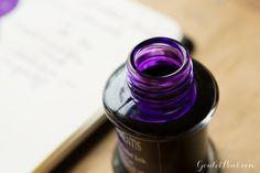 Goulet Pens Blog: Monday Matchup #57: Kaweco Skyline Sport Fountain Pen - Grey with De Atramentis Magenta Violet