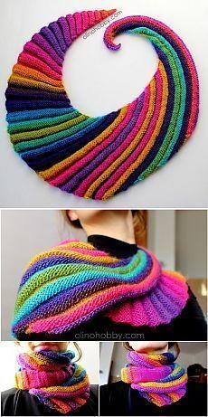 New Knitting Patterns Scarves Ideas 33 Ideas Freeform Crochet, Crochet Shawl, Crochet Stitches, Knit Crochet, Shawl Patterns, Knitting Patterns, Crochet Patterns, Knitted Shawls, Crochet Scarves