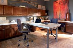 Modern And Collaborative Office With Working Space In Center. Waypoint  Living Spaces | Style 630F