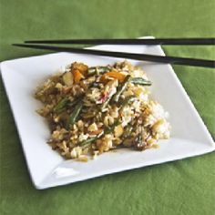 cool Stir Fry & Toasted Almonds