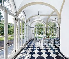 The loggia was glazed so the space could be used year-round | archdigest.com