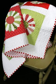 My fantasy is to have a christmas quilt for every bed. OH MAN! I just don't want to have to make them:)