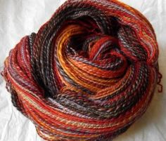 handspun fractal yarn  This from a inspiring article on spinning wool for socks.