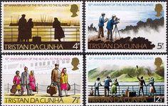 Tristan Da Cunha 1973 10th Anniversary of the Return Set Fine Mint    SG 182 5 Scott 185 8  Other Tristan Stamps HERE