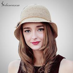 Fashion Women Raffia Straw Hat Crochet hats Summer Wide Brim Hat For Ladies Foldable Bowknot Sun Beach Cap Do you want it #shop #beauty #Woman's fashion #Products #Hat