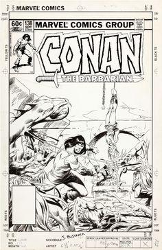Buscema-CONAN 138 Cover Comic Art