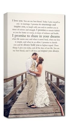 I like these vows. your wedding portrait / photo and your wedding vows or first dance lyrics ! such a special keepsake. Post Wedding, Dream Wedding, Simple Wedding Vows, Trendy Wedding, Perfect Wedding, Wedding Bells, Wedding Ceremony, First Dance Lyrics, Song Lyrics
