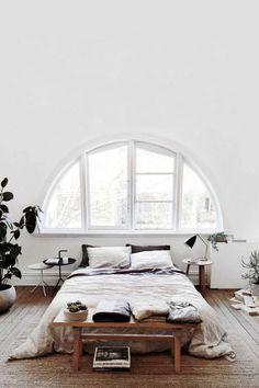 77 Gorgeous Examples of Scandinavian Interior Design Scandinavian-bedroom-with-large-window