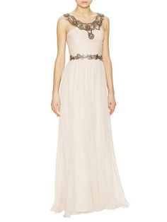 Silk Bead Accent Gown by Notte By Marchesa. orig $1,195, $599 at Gilt