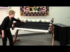 ▶ Attaching Fabric to a Grace Hand Quilting Frame - YouTube