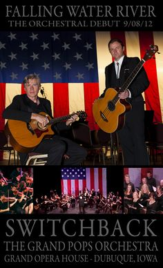 """Switchback is the award-winning duo of Brian FitzGerald and Martin McCormack """"Energetic, emotionally charged and excitingly eclectic. Orchestra, Iowa, Opera House, Celtic, Waterfall, United States, River, American, Music"""