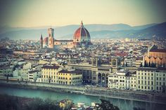 Panoramic view of Florence Tuscany Italy Stock Photo