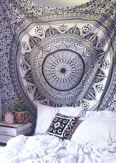 hippie wall hanging star mandala tapestry